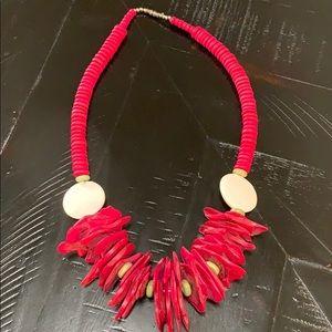 Jewelry - Vintage Wood Necklace Handmade